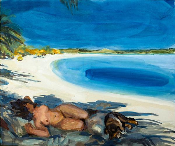 Cony Theis_Im Schatten, 2010, Eitempera/Acryl/Lw., 110 x 132 cm